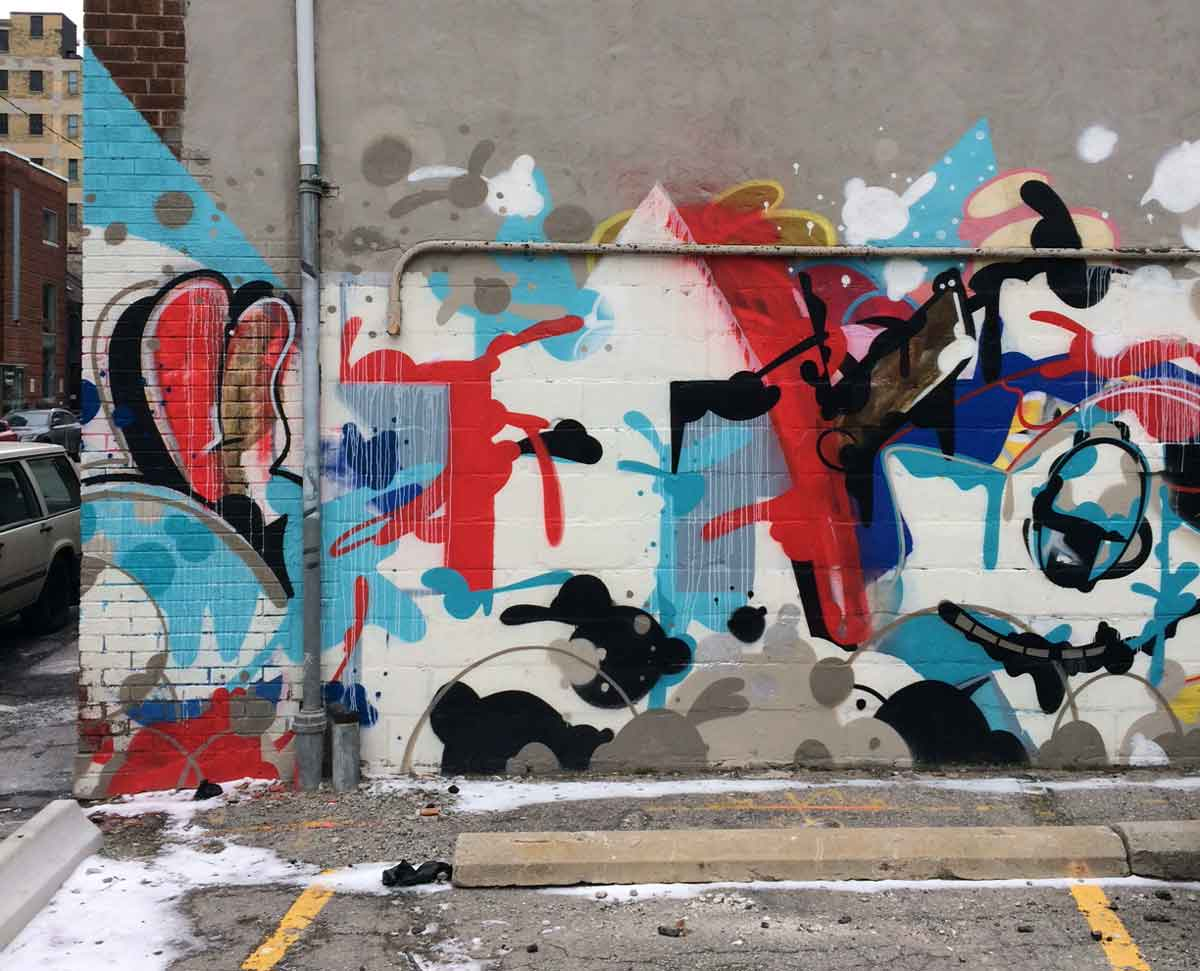 Pascal Paquette Mon Petit Chou And Philip Sung Designs Own Piece Of Graffiti Alley