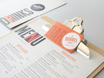 The Barrel House Menus